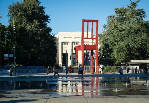 United Nations broken chair