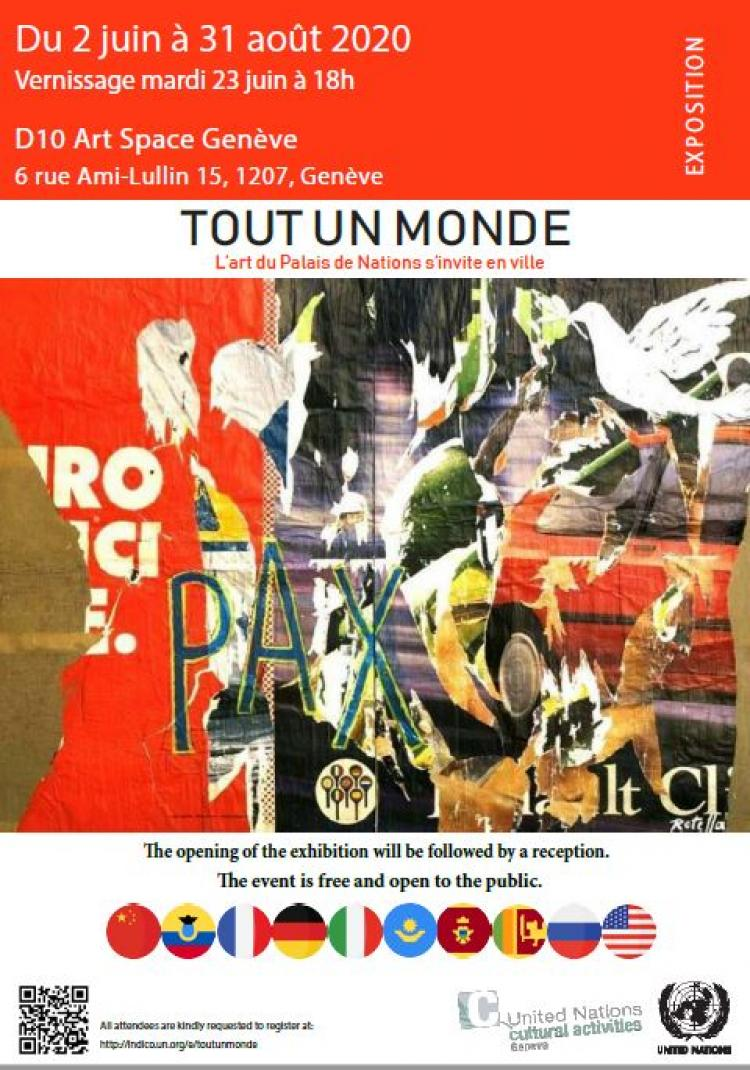 """Tout un monde"": Palais des Nations art visits the City of Geneva"