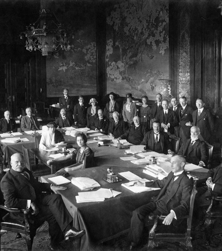 Jurists charged with the preparation of the constitution of the International Court of Justice, 1920